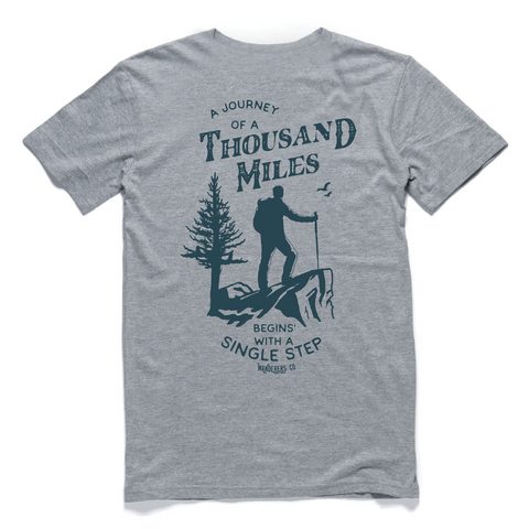 Wanderers Co 'Thousand Miles - Grey' Tee