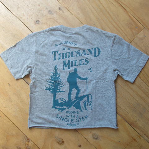 Wanderers Co 'Thousand Miles - Grey' Crop