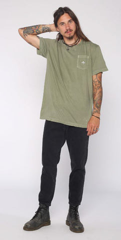 Thrills Co 'Palm Logo' Pocket Tee