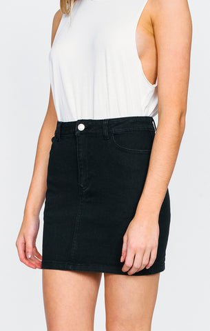 Afends - Afends 'Chevy - Black' Denim Skirt - Women's Bottoms - Stock & Supply Stores