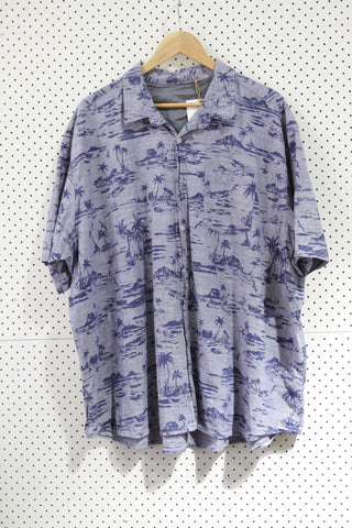 Vintage & Preloved 'Wanted Islands' Button Up Shirt