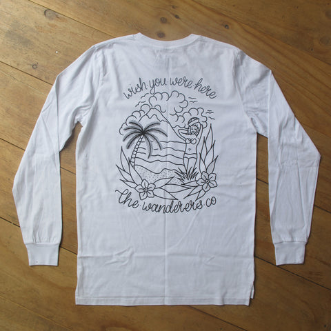 Wanderers Co 'Wishes - White' Longsleeve