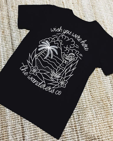 Wanderers Co 'Wishes - Black' Tee