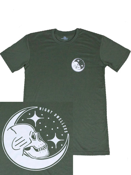 Night Dwellers 'Stargazer - Army Green' Tee