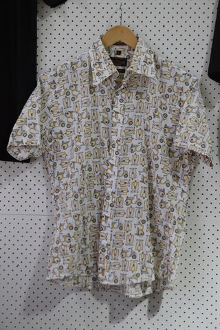 Vintage and Preloved 'Bike' Button Up Shirt