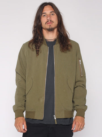 Thrills Co 'Bomber - Army Green' Jacket