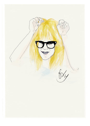 And Lizzy - And Lizzy 'Garth Algar - Waynes World' Print - Prints - Stock & Supply Stores