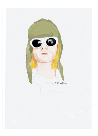 And Lizzy - And Lizzy 'Kurt Cobain - Nirvana' Print - Prints - Stock & Supply Stores