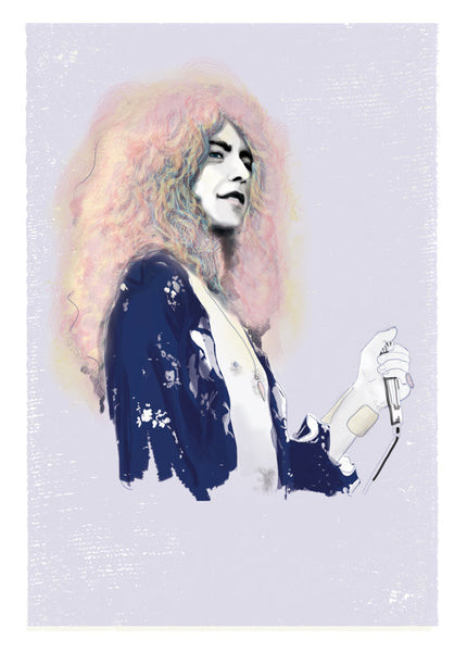 And Lizzy - And Lizzy 'Led Zeppelin - Robert Plant' Print - Prints - Stock & Supply Stores