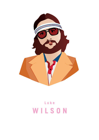 And Lizzy - And Lizzy 'Luke Wilson - Royal Tenenbaums' Print - Prints - Stock & Supply Stores