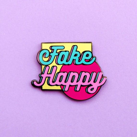Pin Killers 'Fake Happy' Badge Pin