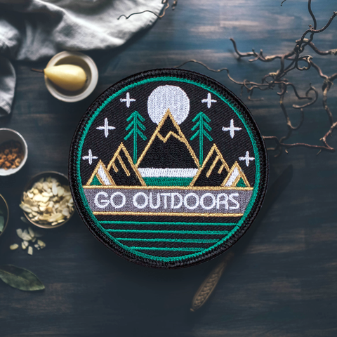 For the Love of Patch - 4 Love of Patch 'Go Outdoors' Patch - Patches & Pins - Stock & Supply Stores