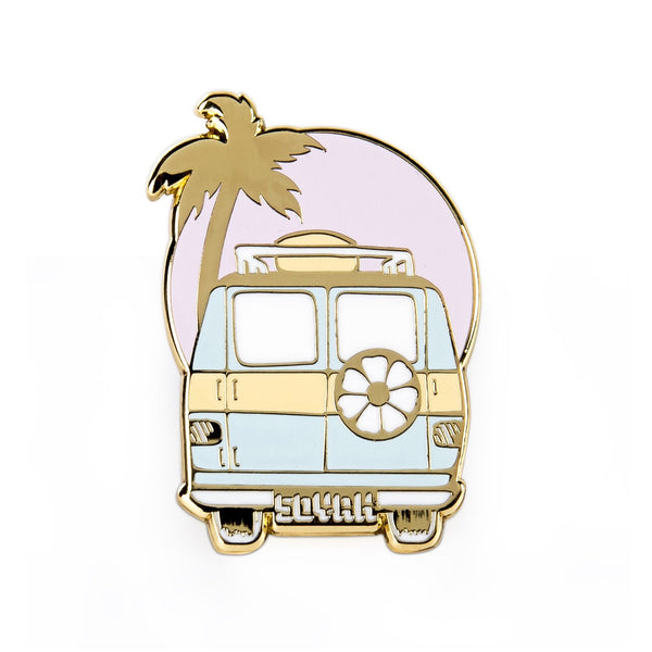 Soyah Press 'Happy Camper' Badge Pin