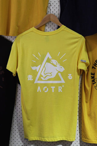 Always On The Run - A.O.T.R 'Japanese Bunny - Yellow' Tee - T-Shirt - Stock & Supply Stores