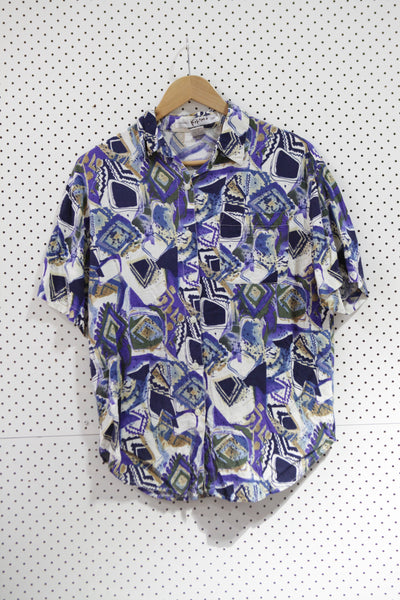 Vintage & Preloved 'Kikomo' Button Up Shirt