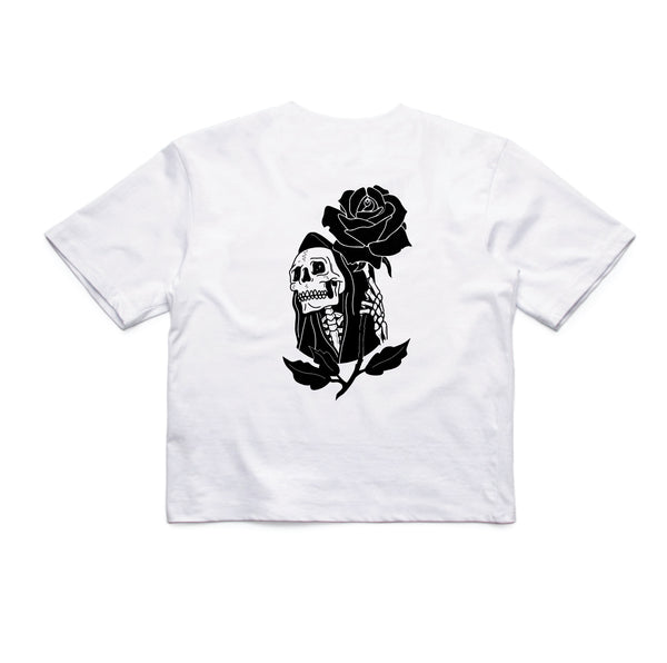 In Bloom - In Bloom 'Reaper - White' Crop - Women's Top - Stock & Supply Stores
