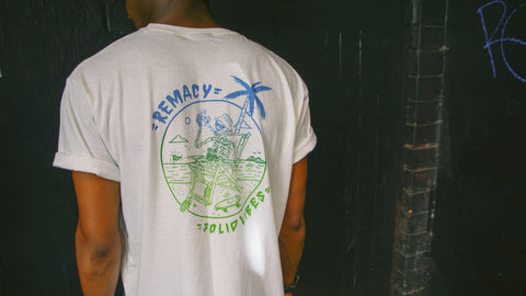 Remacy Clothing Co - Remacy Clothing 'Solid Vibes - White' Tee - LAST ONE!!! - T-Shirt - Stock & Supply Stores
