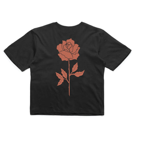 In Bloom - In Bloom 'Rose - Black' Crop - Women's Top - Stock & Supply Stores
