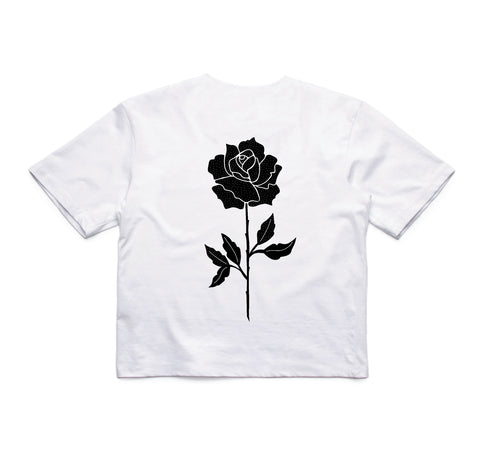 In Bloom - In Bloom 'Rose - White' Crop - Women's Top - Stock & Supply Stores