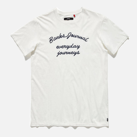 Banks - Banks Journal 'Monument - White' Tee - LAST ONE!!! - T-Shirt - Stock & Supply Stores