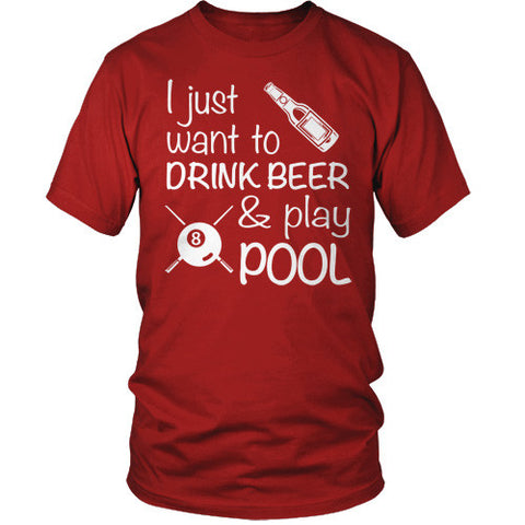 DRINK BEER AND PLAY POOL