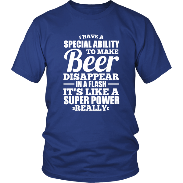 I Have a Special Ability to Make Beer Disappear