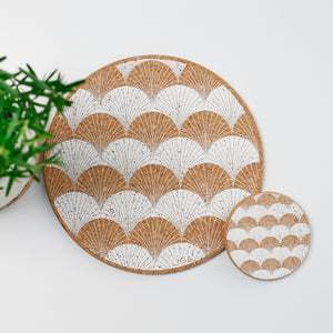 Cork Mats | Scallop