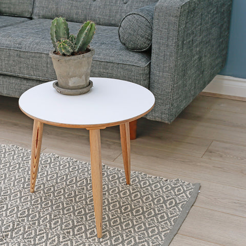 Round Side Table | White