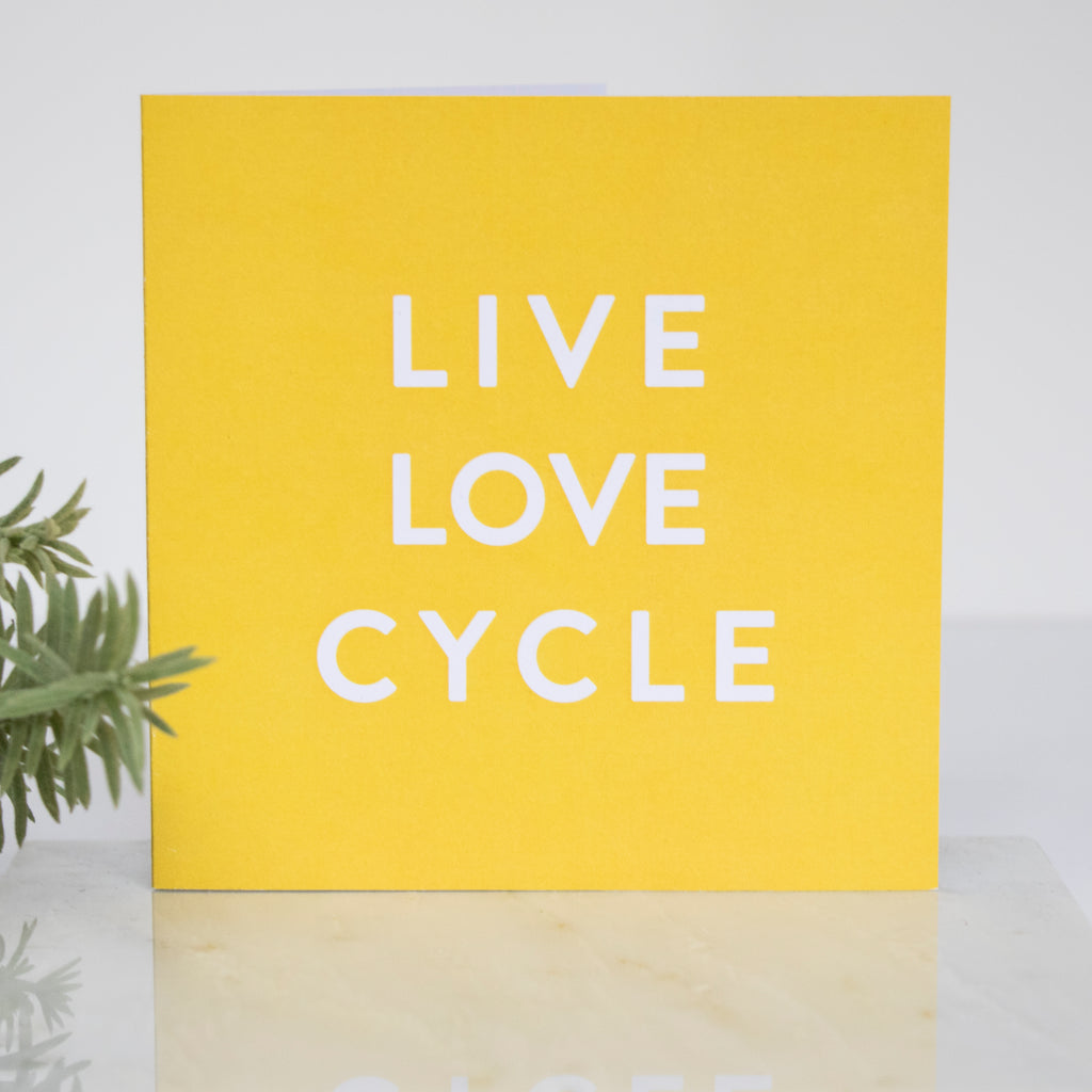 Recycled Square Yellow LIGA Live Love Cycle Card