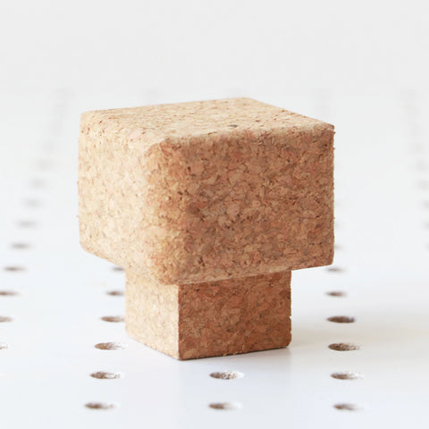 Sustainable Square Cork Knob | Small | LIGA