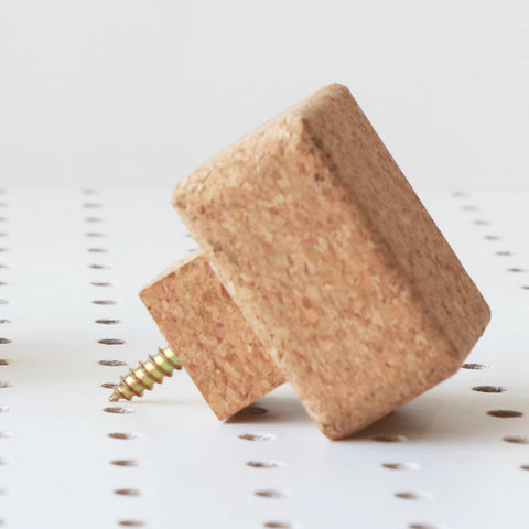 Sustainable Square Cork Knob | Medium | LIGA