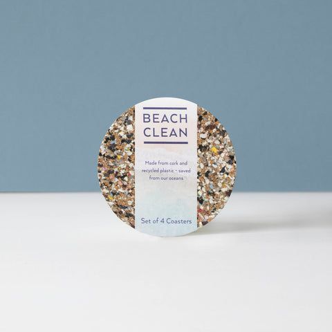 Beach Clean Round Coasters S/4