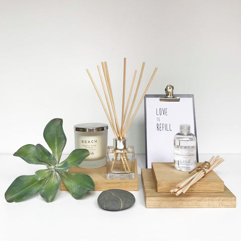 LIGA Refill and Reeds for Beach Diffuser Bergamot, Orange & Vanilla