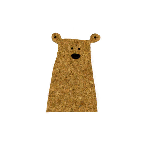 Sustainable Cork Bear Magnet
