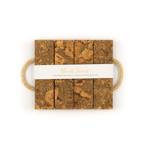 Sustainable Cork 4 Block Trivet