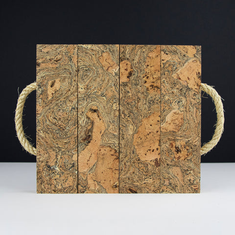 Cork Ice Grey Block Trivet