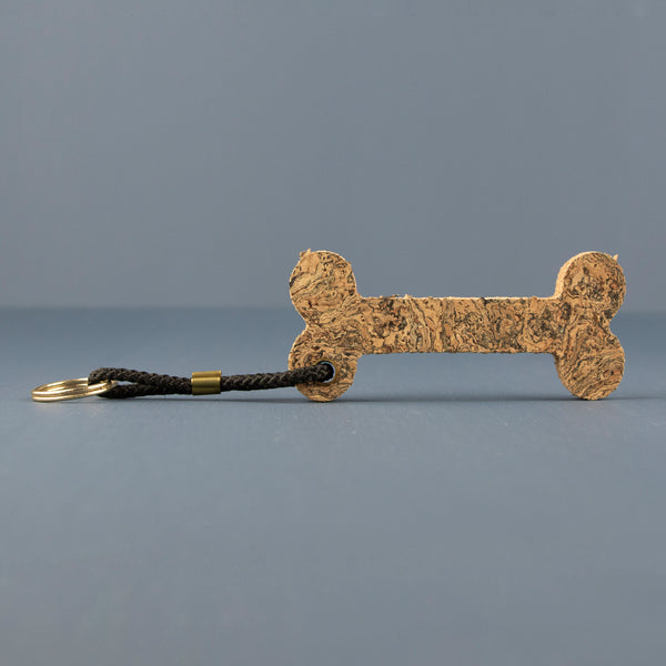 Cork Bone Keyring