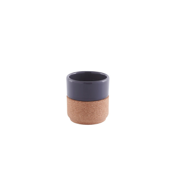 LIGA Sustainable Eco Cork and Grey Ceramic Espresso Mug