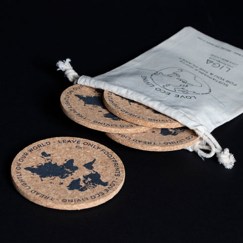 Footprint Coaster S/4 Gift Set