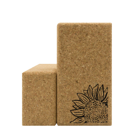 Cork Yoga Block | Sunflower
