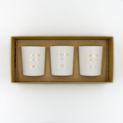 GROW Trio of Candles