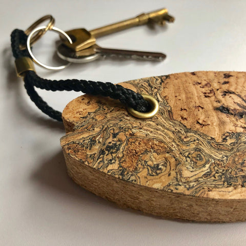 Cork Fish Large Keyring