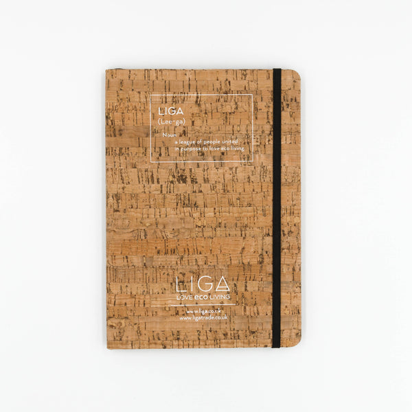 Liga A5 Eco Friendly Cork and Recycled Paper Notebook