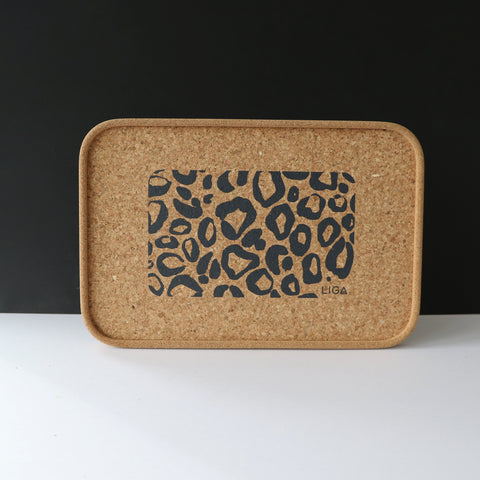 Cork Drinks Tray | Leopard Print