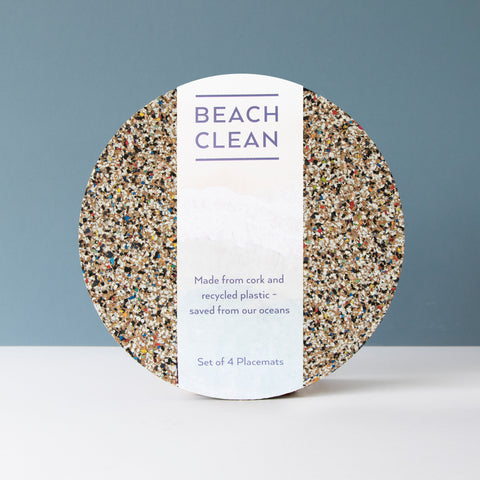 Beach Clean Round Placemats S/4