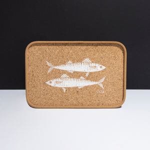 Cork Drinks Tray | Mackerel
