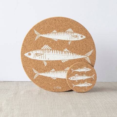 Cork Mats | Mackerel