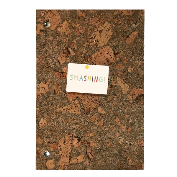 Liga Sustainable Marbled Eco Cork Memo Board with Aluminium Eyelets