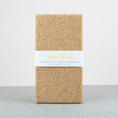Cork Yoga Block.