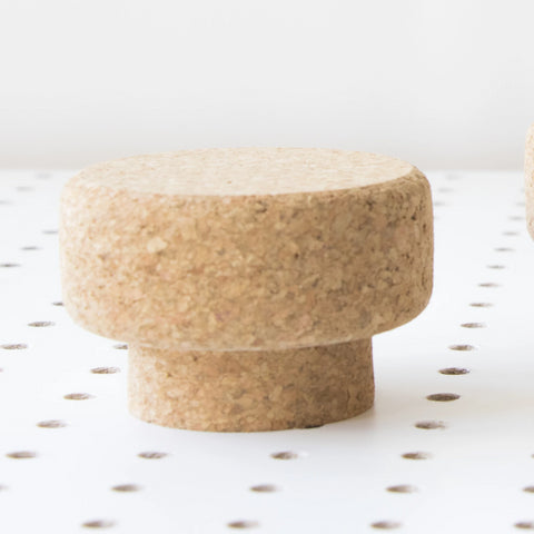 Medium Round Sustainable Cork Knob | LIGA